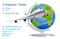 Wow, fantastic  business card with a plane and globe in it. Looks cool and perfect for travel agents.