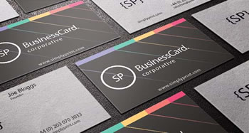 Example of printed business cards