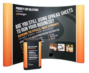 Buy professionally printed exhibition stands on 500mic Laminated with Anti-scuff protection