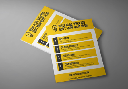 Professionally printed A4 leaflets